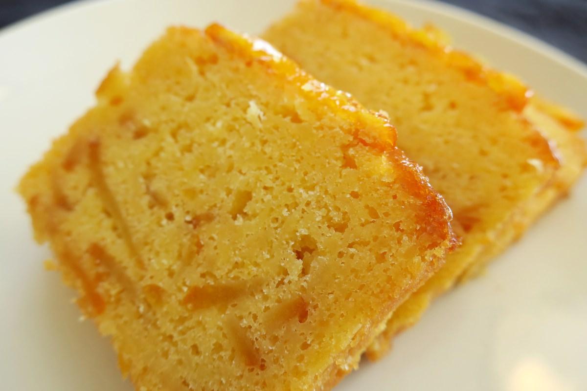 成城石井オレンジケーキは美味しい。
