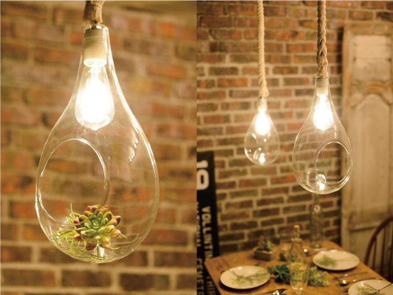 スワン電器のLEDエジソン電球をリビングの照明に