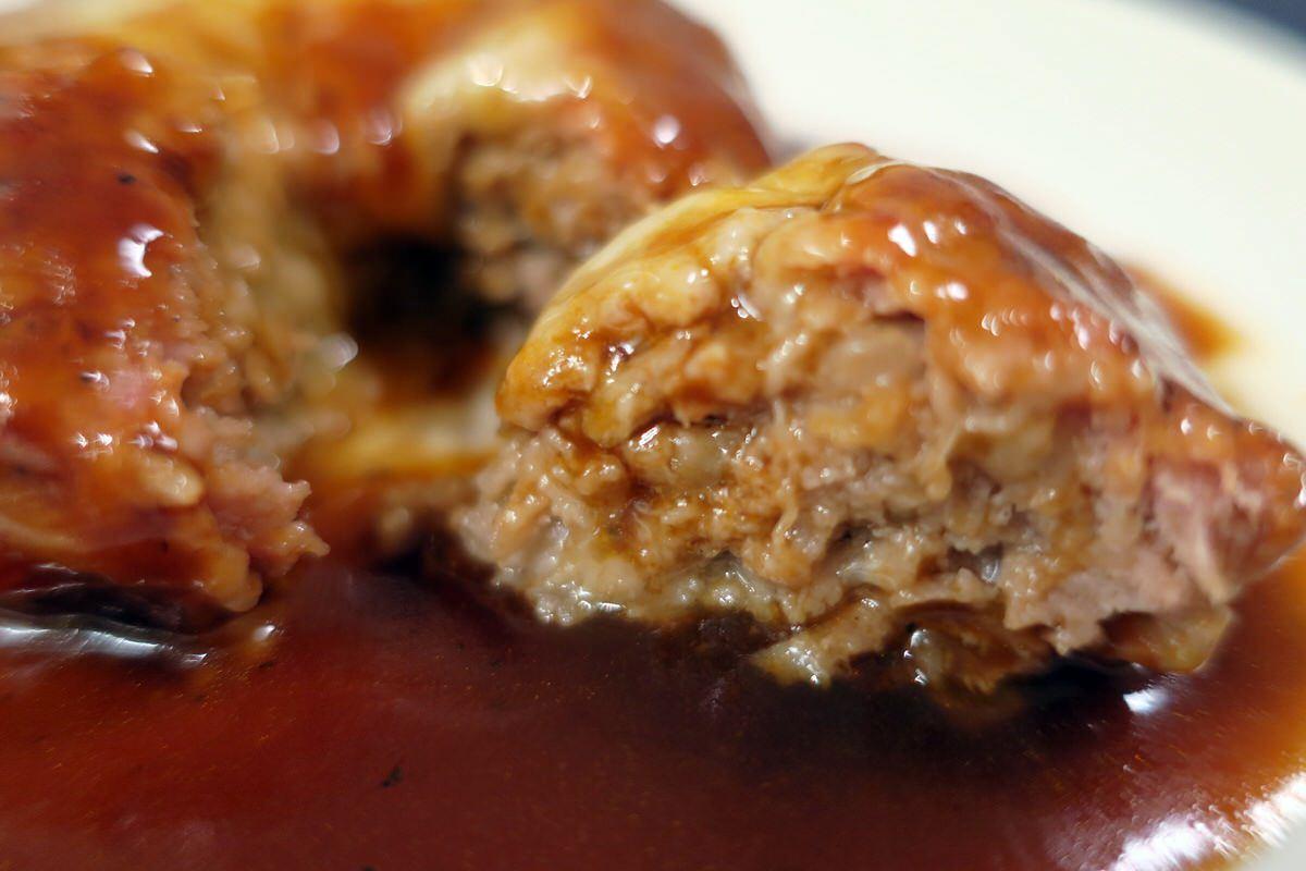 成城石井チーズハンバーグを食べる。