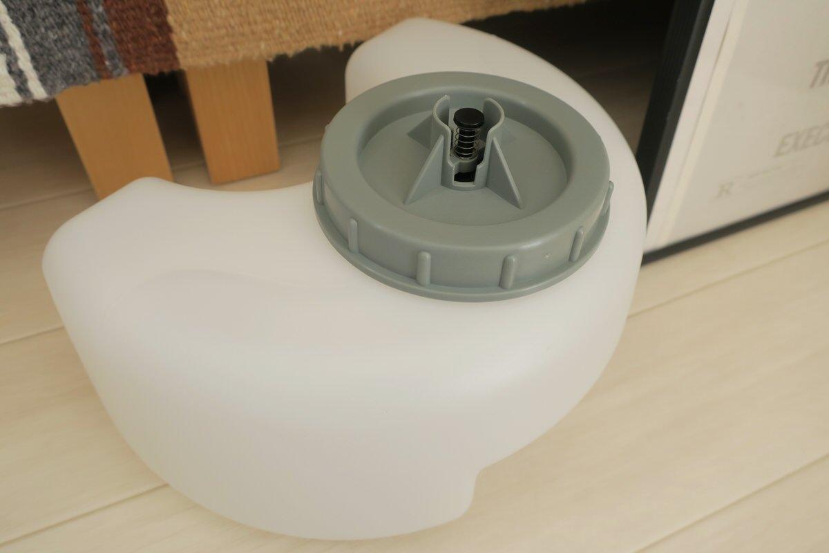 プラスマイナスゼロのスチーム式加湿器Z210の給水タンク