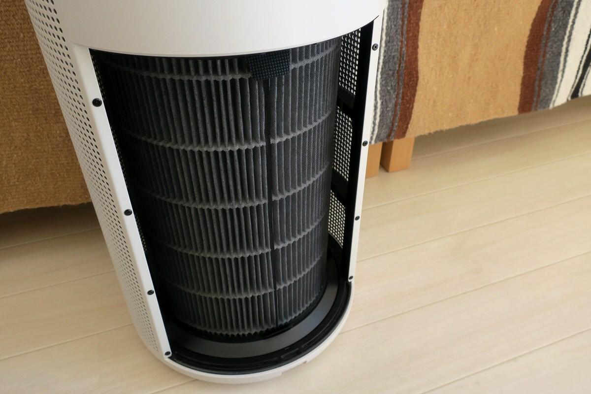 無印良品の空気清浄機のフィルター交換