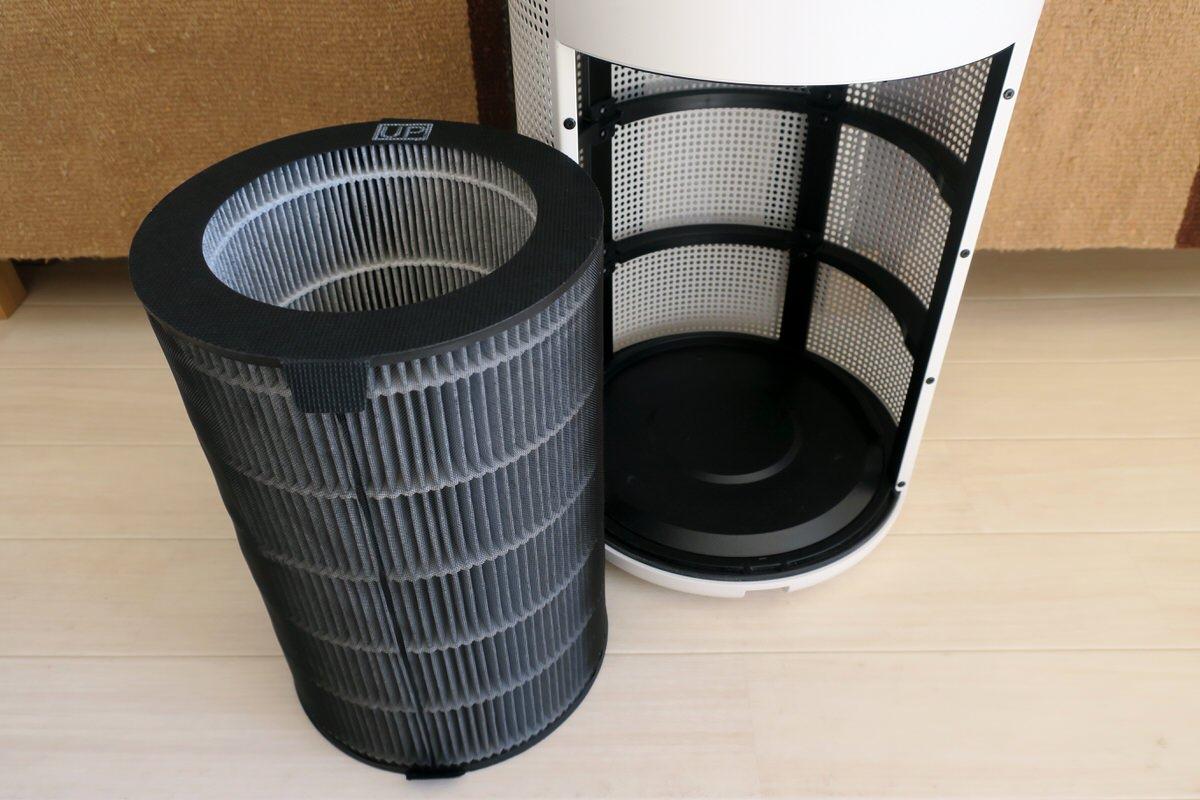 無印良品の空気清浄機を掃除する