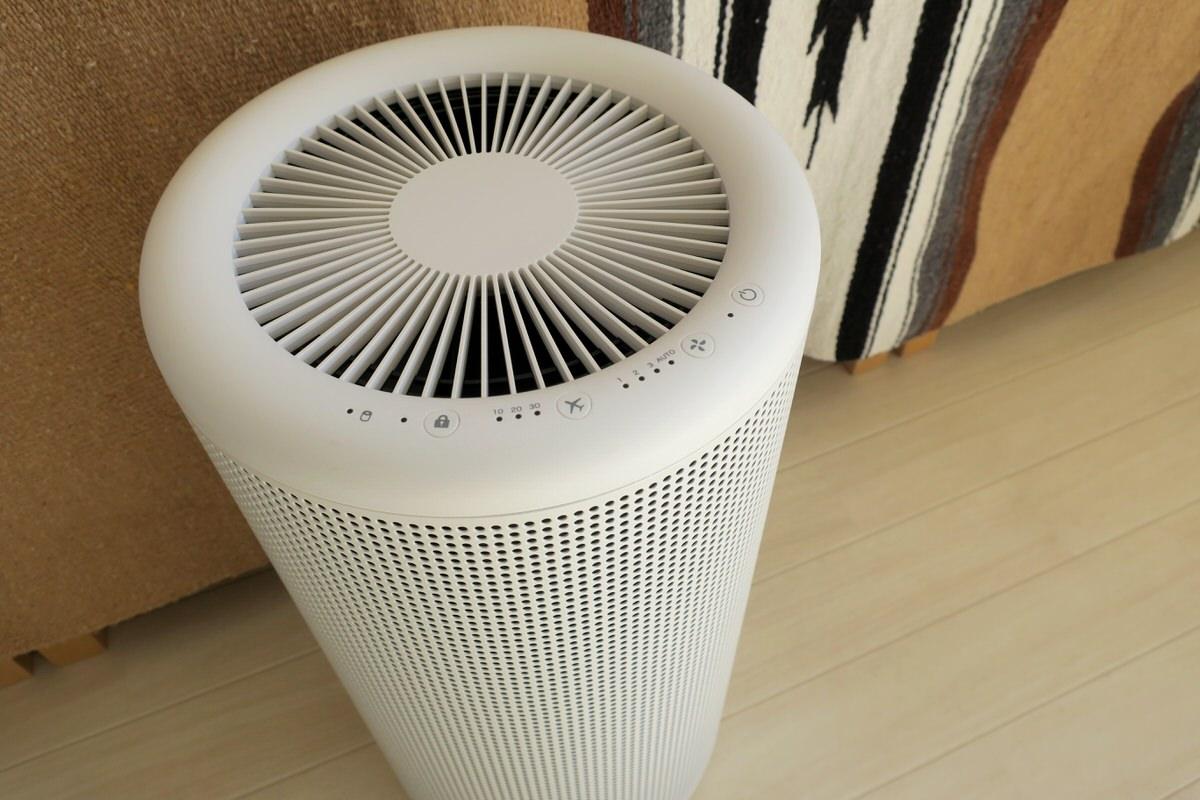 インテリアの邪魔にならない無印良品の空気清浄機