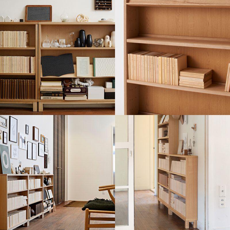 無印良品の組み合わせて使える木製収納のインテリア実例