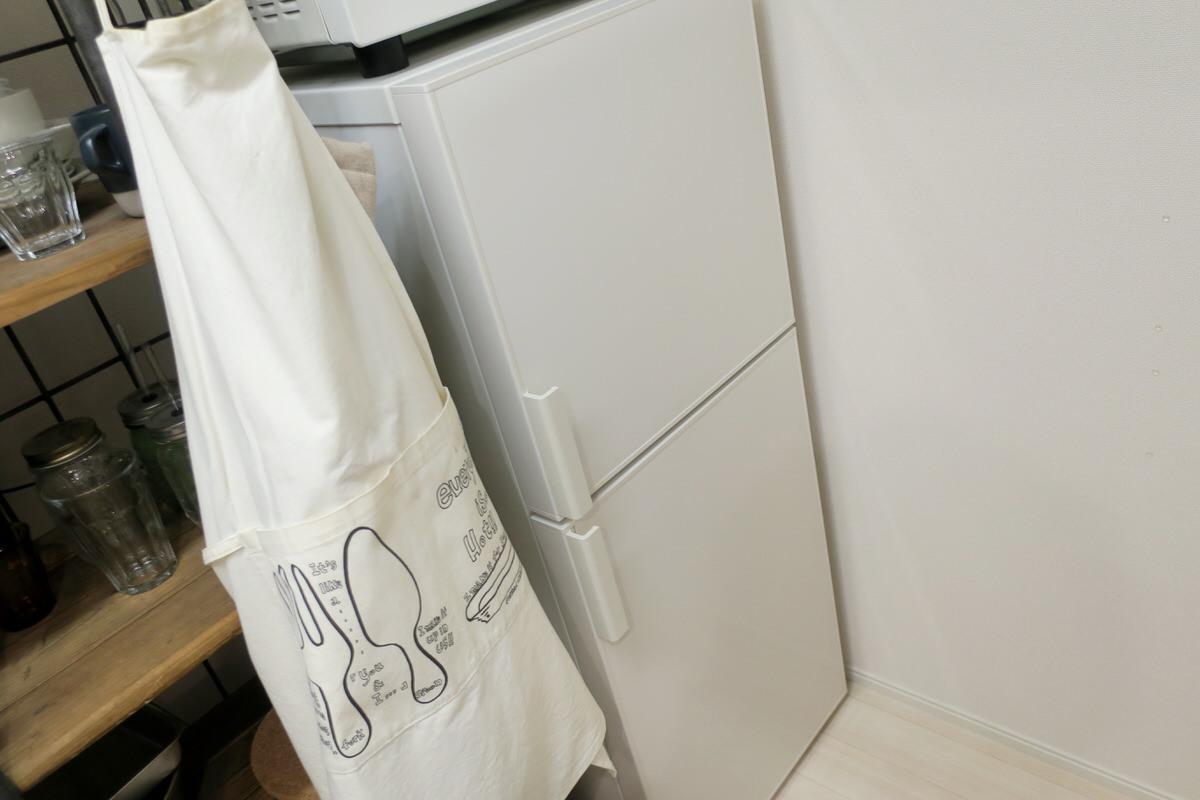 無印良品のオシャレな冷蔵庫でインテリアコーディネート
