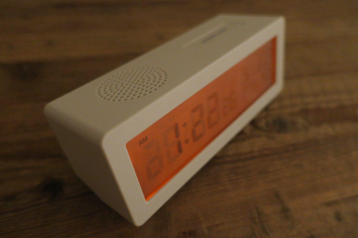 無印良品のデジタル電波時計(大音量アラーム機能付)