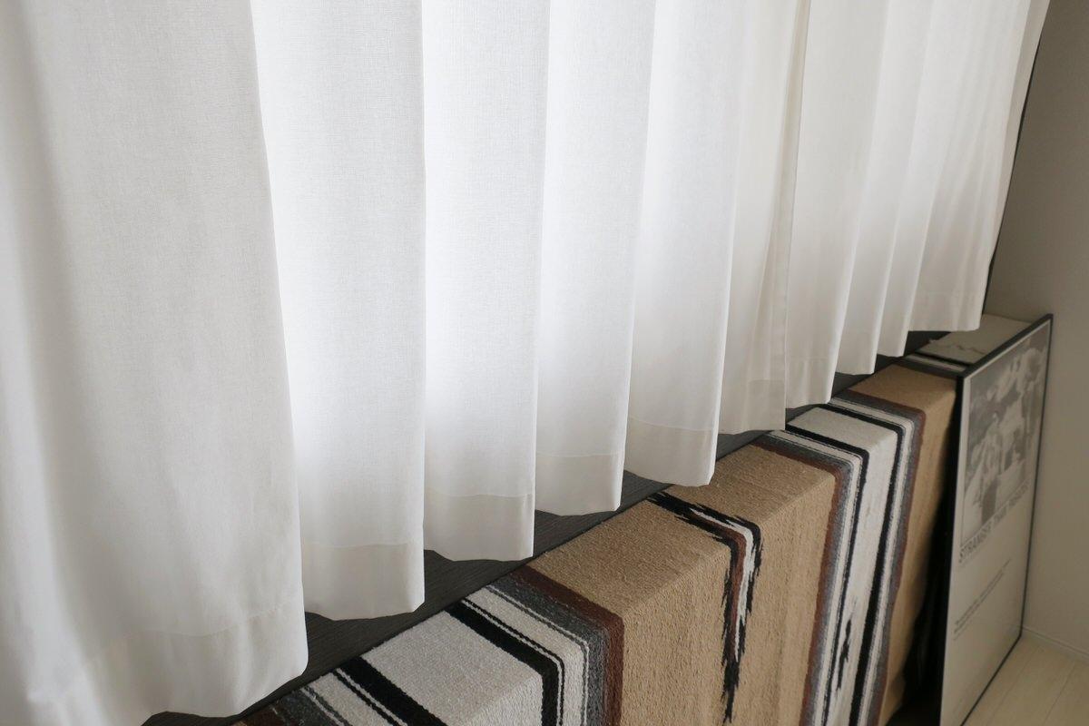 無印良品の綿平織プリーツカーテン(綿帆布カーテン)